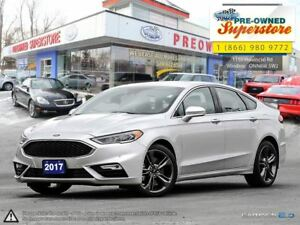2017 Ford Fusion V6 Sport***CAP UNIT, AWD, NAV, LEATHER<<<