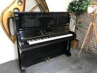 Stunning black Ernst Knause upright piano - CAN DELIVER ON THURSDAY EVE
