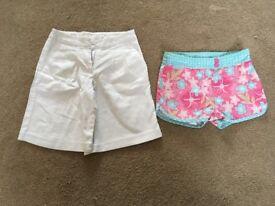 x2 Girls NEXT shorts age 7