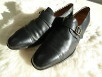 MENS VINTAGE GUCCI BLACK LEATHER SHOES HARDLY WORN. SIZE 44.5 EU 10.5 UK