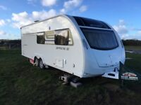 2015 Sprite Quattro FB twin axle 6 berth caravan with motor mover and Diamond pack