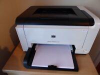 HP laserjet printer CP1025 colour printer with replacement black cartridge