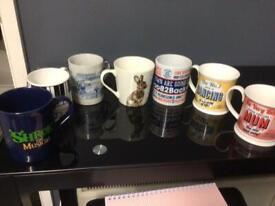 Collection of mugs as new never used bargain incl shrek & a mum mug x 7 altogether