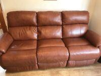 Electric Reclining 3 Piece Sofa