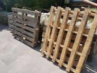 Free wooden pallets, collection required
