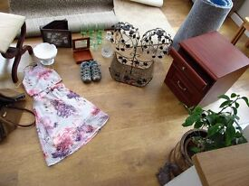 HOUSEHOLD, CAR BOOT, JOB LOT, RUG, CARPET RUNNERS, BEDSIDE TABLE, STOOL, SKIRT/TOP, TRAINERS etc
