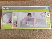 Lindam Pink Bed Guard - Brand New in box