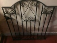 Two hardly used black gates for sale