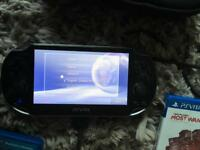 Ps vita with case and games