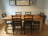 (Urgent) Beautiful wooden dining chairs and table for sale!