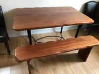 BUY NOW - Beautiful hardwood dining table and bench
