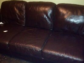 This is a black leather 3 seatand for sale for £130 only!