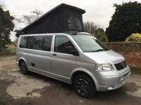 VW T5 TRANSPORTER T30 TDI LWB CAMPERVAN CONVERSION 1.9L CAMPER VAN WITH POP TOP