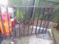 Cast iron driveway gates