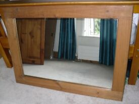 Large and Solid Wood Mirror