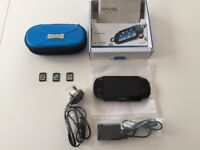 Sony PS Vita (Model PCH 1003) 4GB mem card, 3 games, carry case and original packaging