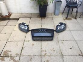 AUDI A3 8P 2004-2008 HEADLIGHTS AND FRONT GRILL