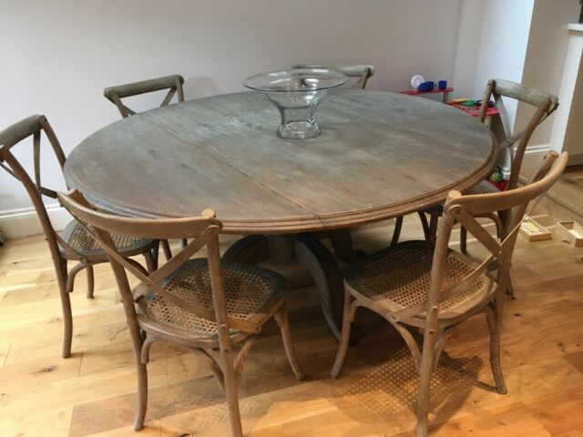 Oka Dining Table In Excellent Condition Includes 6 Chairs Burnt Oak Purchased March 2017 Twickenham London Gumtree