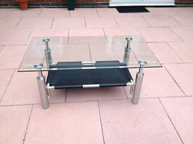 Harvey's Beautiful contemporary glass Coffee table in excellent condition