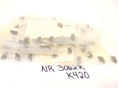 100 New Surplus Top Notch Carbide Inserts Nr-3062r Grade-k420 .125 Radius
