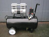 50 Litre Silent Compressor 2hp , 8cfm , 240v , Oil Free