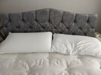 New Grey Bed Headboard King Size