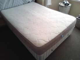 Double Divan Bed 4' 6''. With one large storage draws and two small.