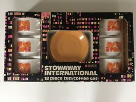Vintage 1970's Stowawy International 18 Piece Tea/Coffee set