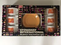 Vintage 1970's Stowawy International 18 Piece Tea/Coffee set