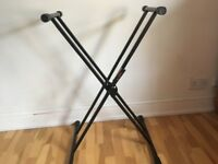 Double X Keyboard Stand for sale, almost new!