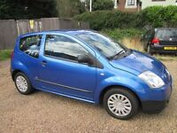 Citroen C2 LX 1.1, 3 door, '53 Reg, FSH, 1 years MOT, 2 Lady Owners, Excellent Condition Throughout