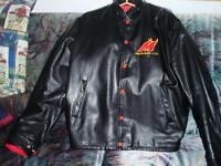 Leather Jacket Collectable.Moncton Golden Flames .