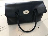 Mulberry Bayswater Style Bag in Black Brass Hardware