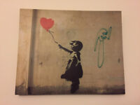 Banksy canvas Girl with Red Balloon £10