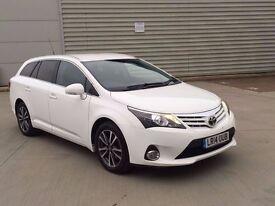 2014 Toyota Avensis 2.0 D-4D Icon 5dr white estate diesel ***FACE LIFT**CHEAPEST ON NET