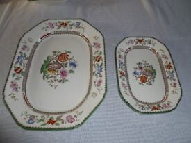 Two Copeland Spode Serving Dishes, Chinese Rose Pattern
