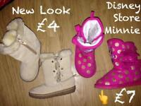 Girls size 7 Boots and Shoes Disney Store Next