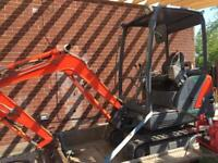 Mini digger NO VAT
