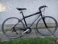Trek 7.3 FX 700 black bike wheels 17.5 aluminium frame (44.5cm) 24 gears excellent working order