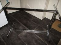 Glass TABLE. Dining table, display, extra table for Christmas, plate glass, chrome