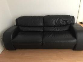 Black leather sofa cheap