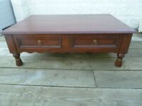 Large Solid Oak Villa and Hut Coffee Table with 4 Drawers all with Dovetail Joints