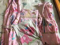 girls curtains and duvet set