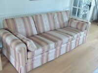 *FREE* RECENTLY PROFESSIONALLY RE-UPHOLSTERED 3 SEATER SOFA *FREE*