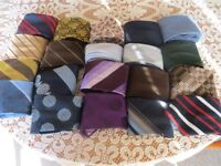 Mens ties from different era's