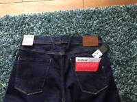 New Men's Replay Anbass Hyperflex Dark Denim Jeans 34W 34L