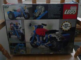 Classic Lego 857 Motorbike with sidecar