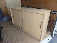 beech / maple sliding door cupboard £40 ono