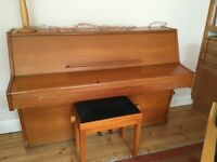 compact modern upright piano, Challen 988