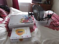 Satelite Dish, Freesat Box, TV Ariel, Freeview TV, Kettle, Toaster & Micro Wave.